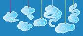 Etiquetas nube clásico chino — Vector de stock