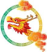 Dragon boat festival background — Stock Vector