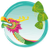 Dragon boat festival background — Stock Vector