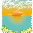 Tropical Sunset — Stock Vector #26839027