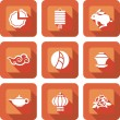 Chinese mid autumn festival icon design set — Stock Vector #30245459
