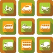 Vehicle icon design set — Stock Vector
