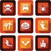 Happy Halloween icon design set — Stock Vector