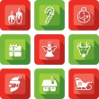 Christmas Element design icon set — Stock Vector