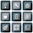 Computer Technology Icon design set — Imagen vectorial