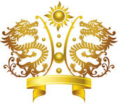 Chinese King crown — Stock Vector