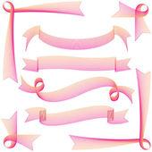 Gift ribbon set — Stock Vector