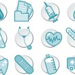 Healthcare icon illustration set — Stock Vector