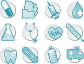 Healthcare icon illustration set — Vettoriale Stock