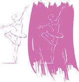 Ballerina in action — Stock Vector