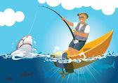 Fishimg game — Stock Vector