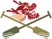 Dragon boat illustration — Stock Vector