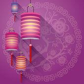 абстрактный фон китайские фонари — Cтоковый вектор