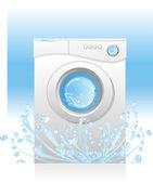 White washing machin — Stock Vector
