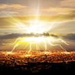 Judgement day over a city — Stock Photo #12543445