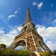 Paris Eiffel Tower in France during sunny day — Stock Photo #12543412