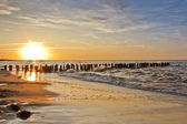 Colorful sunset at seaside during summer — Stock Photo