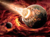 Planeet aarde apocalyps — Stockfoto