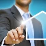 Businessman creating his company concept — Stock Photo
