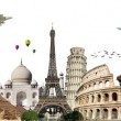 Travel the world monuments concept — Stock Photo #23132672