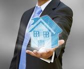 Businessman real estate concept — Stock Photo