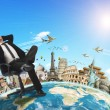 Businessman holidays concept — Stock Photo #41751499