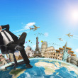 Businessman holidays concept — Stock Photo