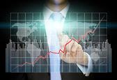 Businessman fraph concept — Stock Photo