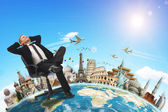 Businessman holidays concept — Stock Photo