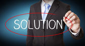 Businessman solution concept — Stock Photo