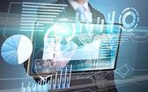 Businessman technology interface — Stok fotoğraf