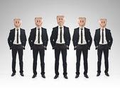 Businessman teamwork concept — Stock Photo