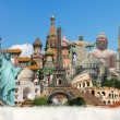 Stock Photo: Travel world monuments concept