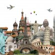 Travel the world monuments concept — Stock Photo