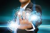 Businessman graph concept — Stock Photo