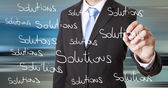 Businessman solution concept — Stock Photo