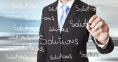 Businessman solution concept — Stockfoto