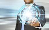 Businessman technology concept — Stock Photo