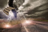 Concepto de desastre tornado — Foto de Stock