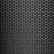 Brushed titanium alloy honeycomb tiles texture with vertical highlight - perfect for 3D modeling and rendering — Stock Photo