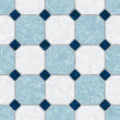 Blue and white ceramic tile kitchen floor - seamless texture perfect for 3D modeling and rendering — Stock Photo