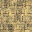 Light wavy brick pavement - seamless texture perfect for 3D modeling and rendering — Stock Photo