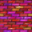 Colorful modern stained glass window - seamless texture perfect for 3D modeling and rendering — Stock Photo