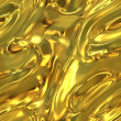 Warped molten gold plate - seamless texture perfect for 3D modeling and rendering — Stock Photo