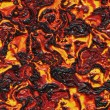 Stock Photo: Red-hot molten lavflow - seamless texture perfect for 3D modeling and rendering