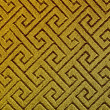 Threaded Asian maze infinite pattern on golden silk - natural photo texture perfect for 3D modeling and rendering — Stock Photo #36683257