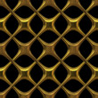 Fancy golden chain-link isolated on black - seamless texture perfect for 3D modeling and rendering — Stockfoto