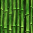 Lush green bamboo stalks - seamless texture perfect for 3D modeling and rendering — Stock Photo