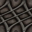 Polished futuristic steel alloy grid on grungy stone background - seamless texture perfect for 3D modeling and rendering — Stock Photo #36683683