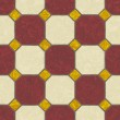 Brown and earth tone ceramic tile floor - seamless texture perfect for 3D modeling and rendering — Stock Photo